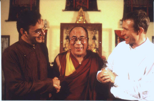 The Dalai Lama with Khashyar Darvich and David Mueller