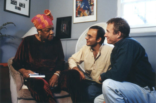 Maya Angelou with Khashyar Darvich and David Mueller